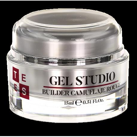 Gel Uñas Tees Studio Builder Camuflaje Rouge 15ML